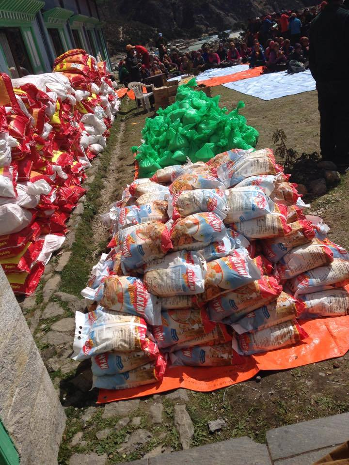 Aid for the people of Solu Khumbu. Photo by Charok Lama.