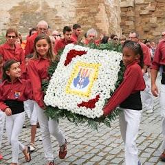 Ofrena floral Diada Nacional de Catalunya Seu Vella Lleida 11-09-2015
