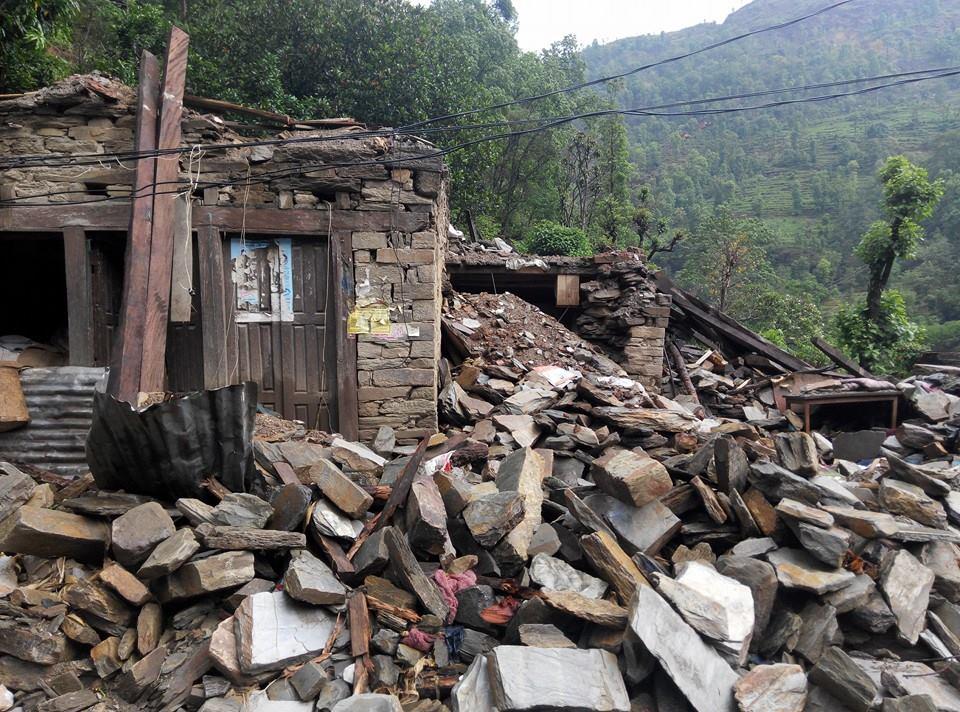 Earthquake damage to homes.