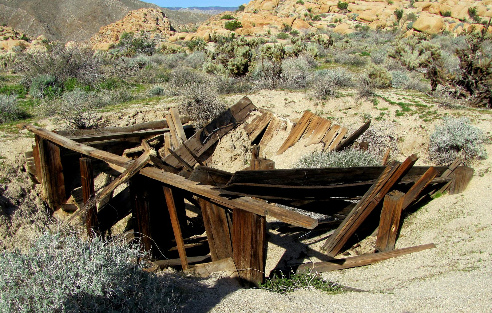Remains of the Railroad Construction Camp.