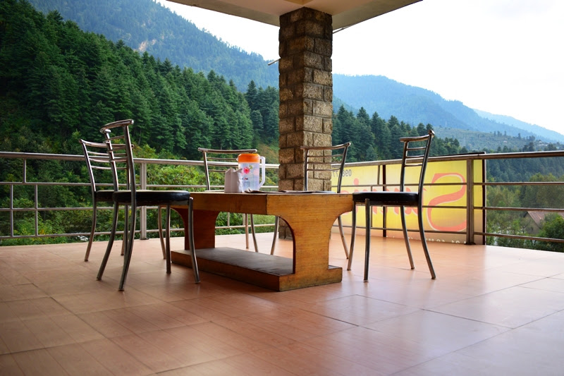 Dining area on the terrace