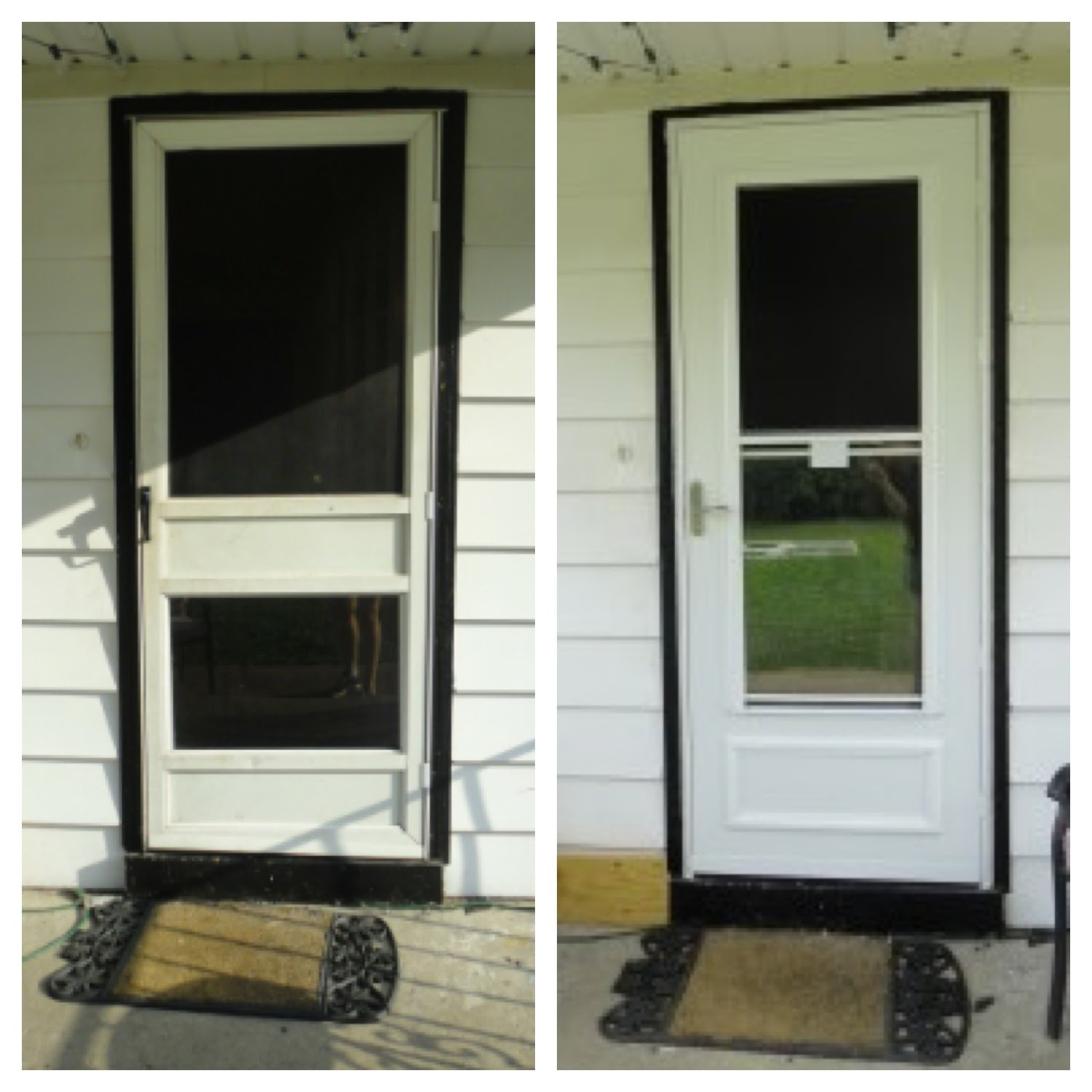 Replaced the back screen door