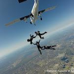 Sortie d'avion du VR4 Féminin, photo Remy Grancler