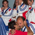 Remise des médailles d'Or du Voile Contact Séquence à 4 par Patrice Girardin.