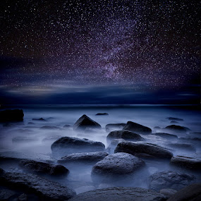 Where dreams begin by Jorge Maia - Landscapes Starscapes ( waterscape, stars, mood, night )