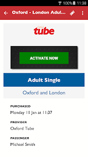 Oxford Tube Mobile Ticket- screenshot thumbnail