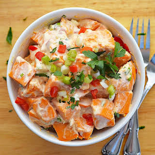 Creamy Vegan Sweet Potato Salad.