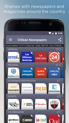 Chilean Newspapers - screenshot