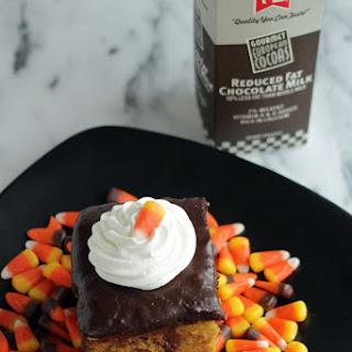 Pumpkin & Chocolate Poke Cake