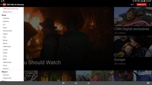 CNN for Samsung Galaxy View  screenshots 2