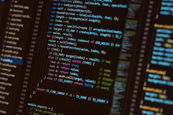 What is full stack web development: A computer screen full of code