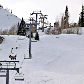 Chair Lift by Tony Huffaker - Sports & Fitness Snow Sports ( ski, mountain, chairlift, snow, resort, snowboard )