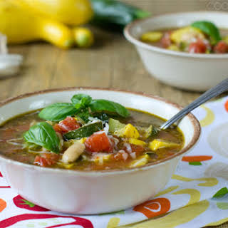 Summer Minestrone Soup.
