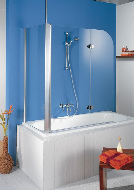 Duschkabinen_12 Exklusiv Badewannenaufsatz, 2-teilig mit Seitenwand