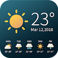 Real-time weather temperature report & widget