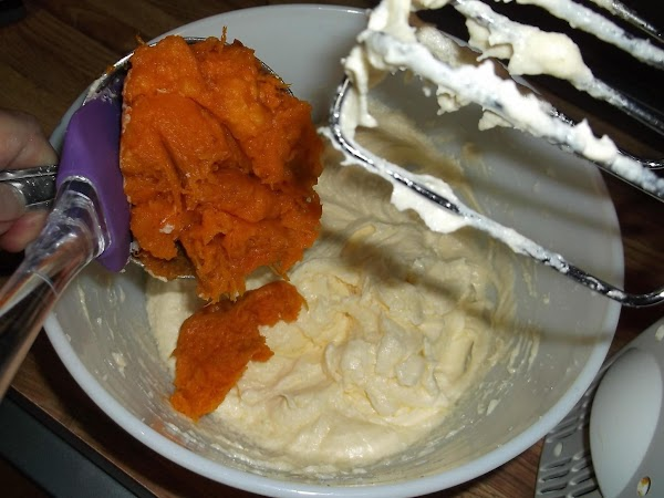 Add sweet potatoes and mix well.