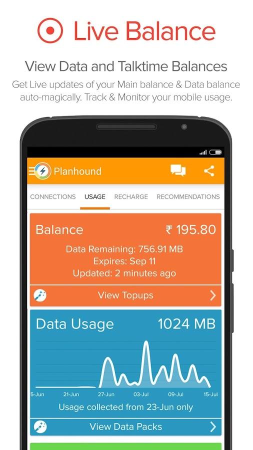 Mobile Recharge Plans & Usage- screenshot