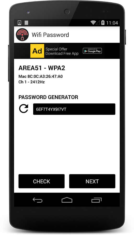 Wifi Password- screenshot