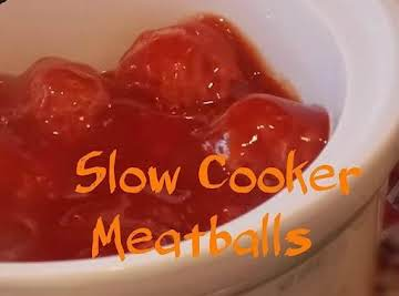 Slow Cooker Homemade Meatballs