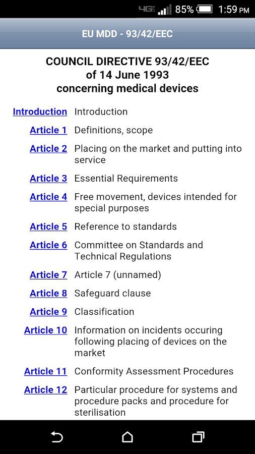Medical Device Regulatory- screenshot
