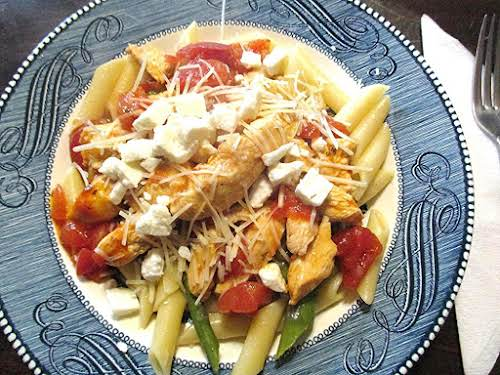 "Chicken and Asparagus with Penne Pasta ""This stuff is really tasty and..."