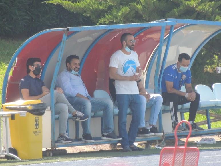Mohamed El Assy, este martes en el entreamiento.