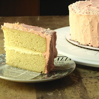Buttery Vanilla Birthday Cake