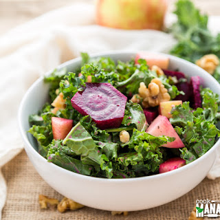 Kale Salad with Roasted Beets, Apple & Walnuts