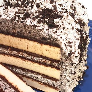 """Dairy Free No Bake Cookies & Cream """"Ice Cream"""" Cake"""