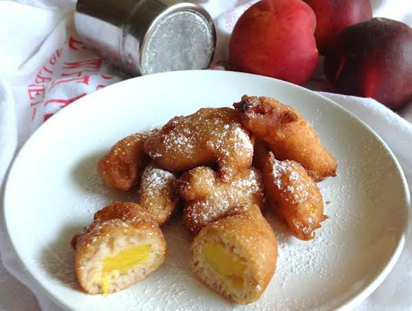 Fresh Peach Fritters Recipe