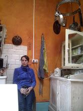 Photo: In Corfu, finally. A rest in Nicos' kitchen
