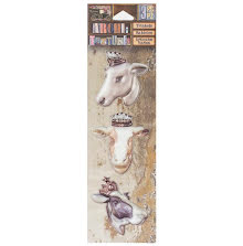 7 Gypsies Architextures Trinkets Adhesive Embellishments - Bovine Beauties UTGÅE