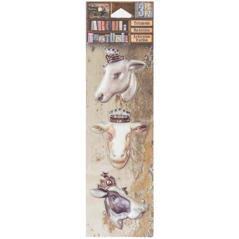 7 Gypsies Architextures Trinkets Adhesive Embellishments - Bovine Beauties UTGÅE