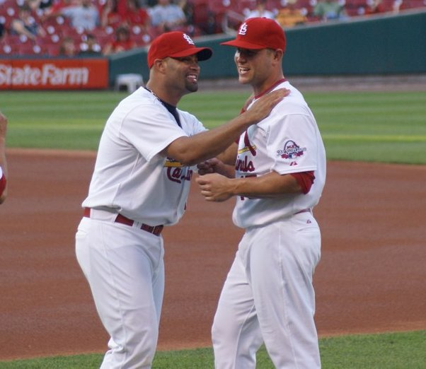 congratulating Holliday