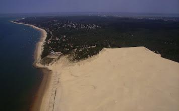 Photo: Extrémité nord de la Dune du Pilat et le Pilat-sur-Mer
