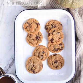 Pumpkin Spice Cookies with Chocolate Chips.