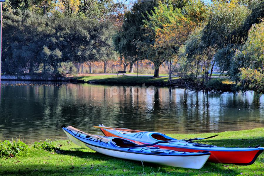 Lodi Lake by Joe Fernandez - City,  Street & Park  City Parks ( california, canoe, lake, boat, lodi )