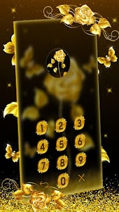 Golden Rose Launcher Theme - náhled