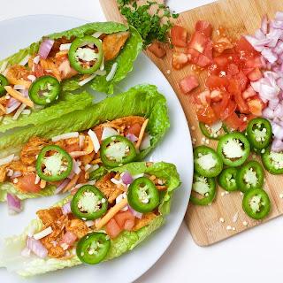 Buffalo Chicken Lettuce Tacos (Gluten-Free, Paleo).