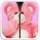 Pink Teddy Bear Zipper Unlock