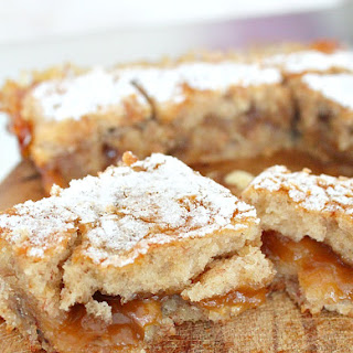 Vegan Blondie With Banana, Walnuts And Coconut Oil.