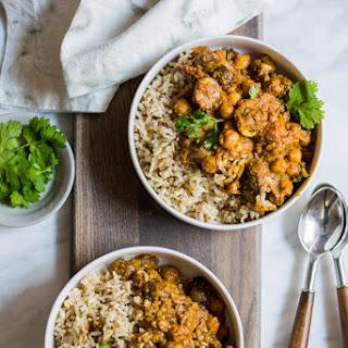 Mushroom & Chickpea (vegan!) Korma.