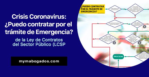Crisis Coronavirus: ¿Puedo contratar por el trámite de Emergencia de la LCSP?