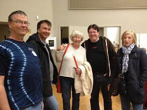 Photo: Fred, Mark, Penny, Thom and Fiona