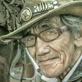 horse rider by Rajha Tahir - People Street & Candids ( horse, baguio, wright park, old man, city )