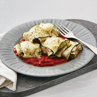 Chicken & Ricotta Stuffed Zucchini Parcels with Chunky Tomato Sauce