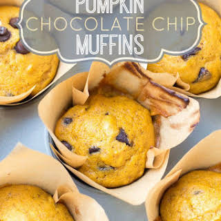 Pumpkin Chocolate Chip Muffins.