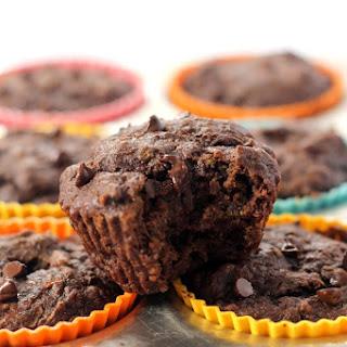 Vegan Chocolate Zucchini Muffins (Oil Free!)