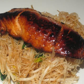 Honey-Seared Salmon with Sesame Noodles.