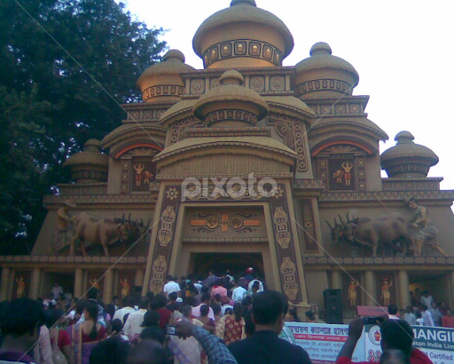 Durgapur fuljhor durga puja pandal other exteriors buildings durgapur fuljhor durga puja pandal by subrata das buildings architecture other exteriors thecheapjerseys Images